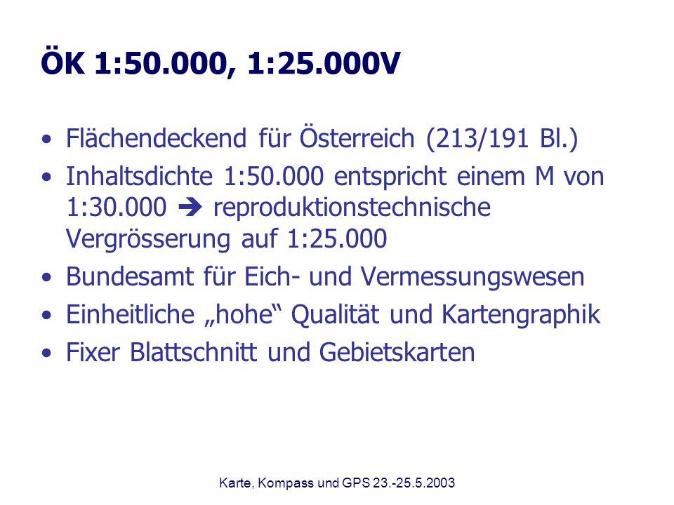 ÖK 1:50.000, 1:25.000V Flächendeckend für Österreich (213/191 Bl.)