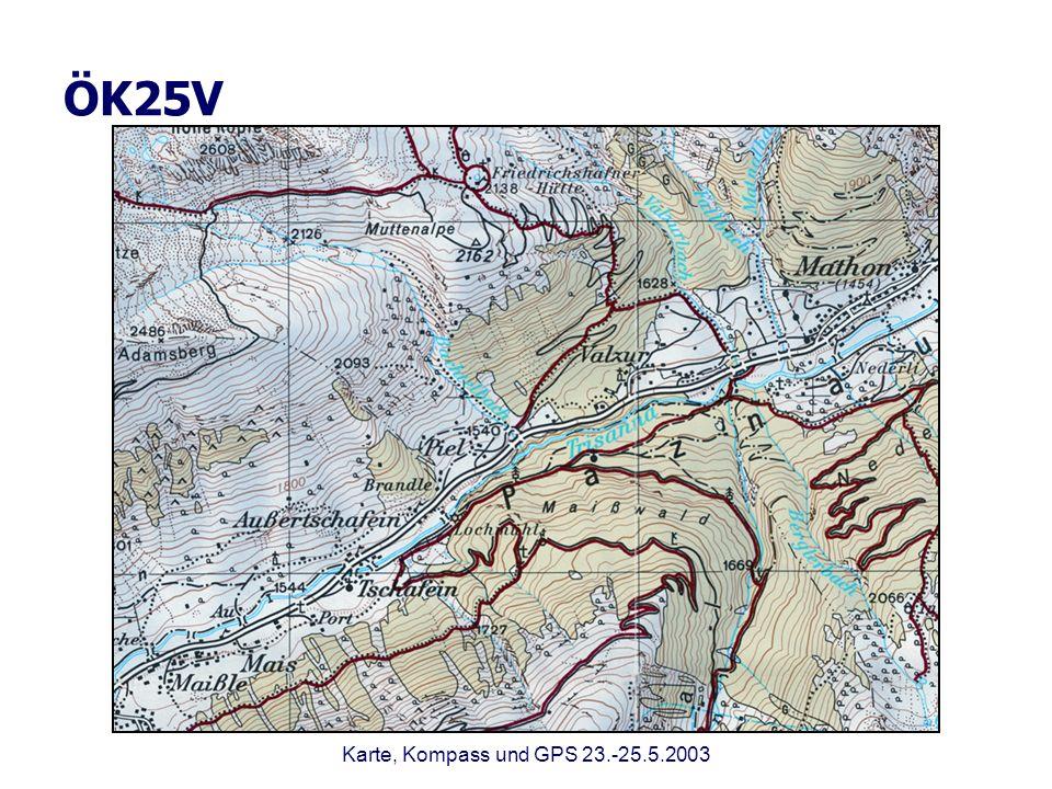 ÖK25V Karte, Kompass und GPS 23.-25.5.2003