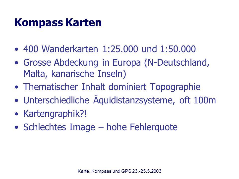 Kompass Karten 400 Wanderkarten 1:25.000 und 1:50.000