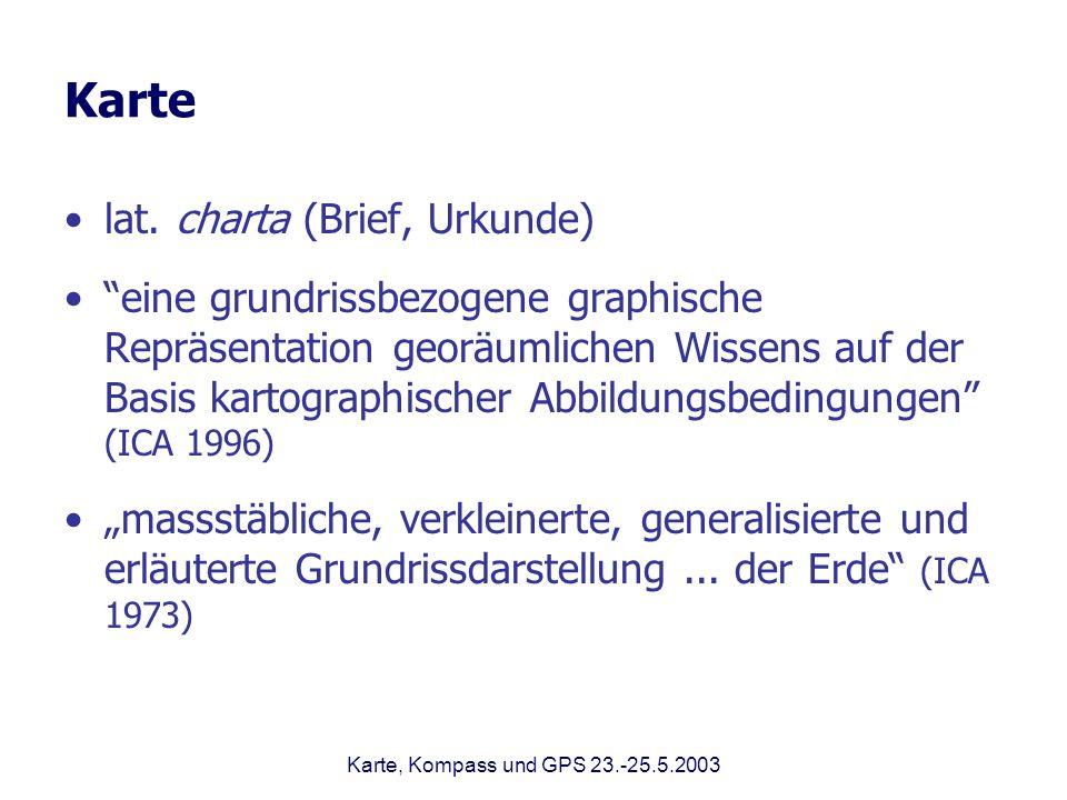 Karte lat. charta (Brief, Urkunde)