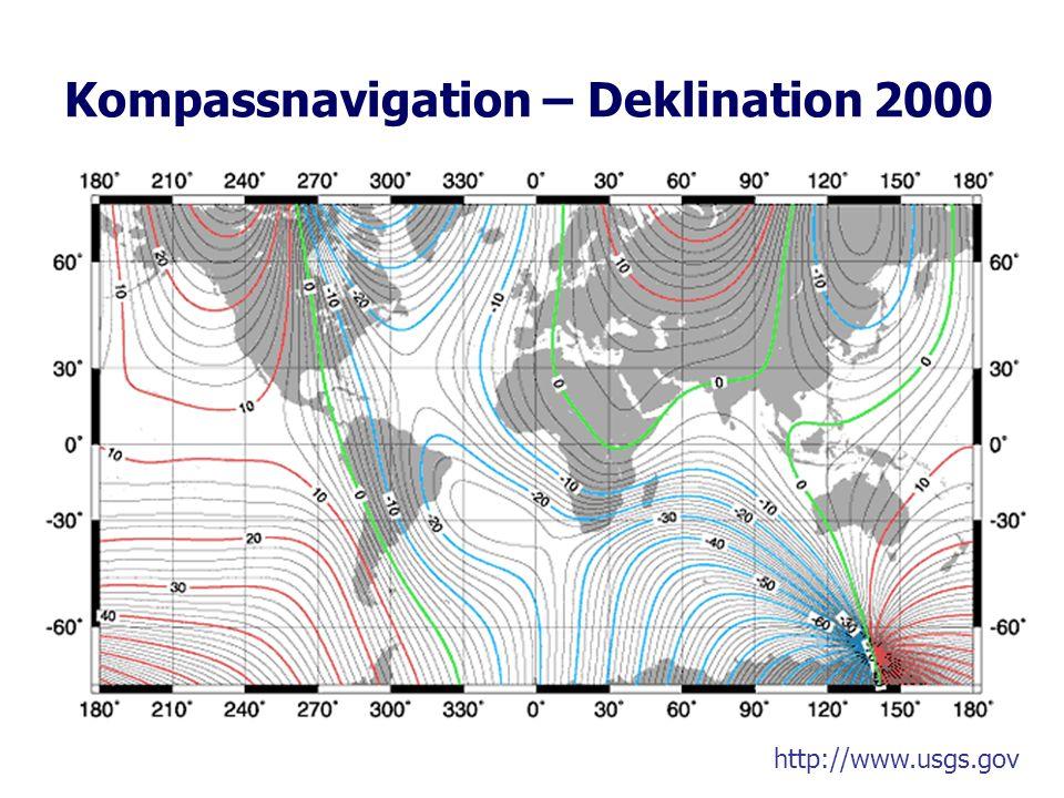 Kompassnavigation – Deklination 2000