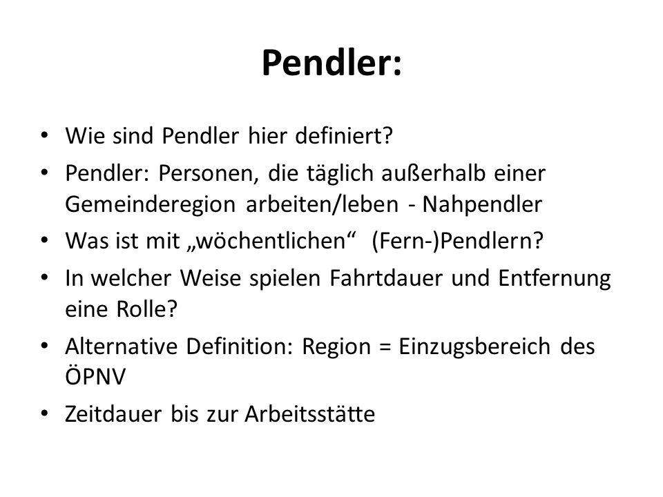 Pendler: Wie sind Pendler hier definiert