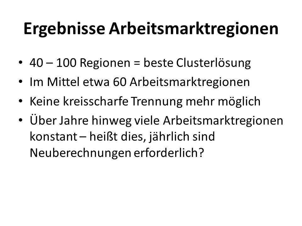 Ergebnisse Arbeitsmarktregionen