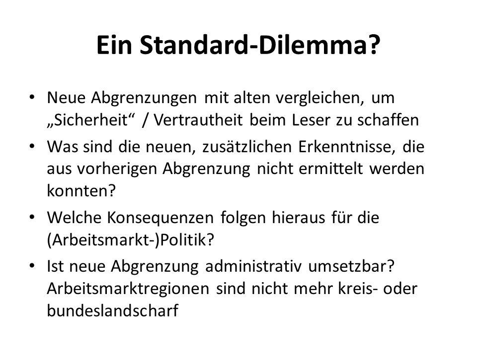 """Ein Standard-Dilemma Neue Abgrenzungen mit alten vergleichen, um """"Sicherheit / Vertrautheit beim Leser zu schaffen."""