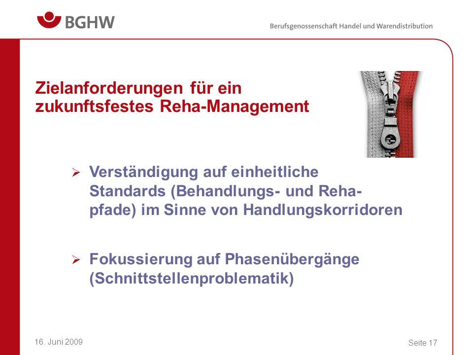 Zielanforderungen für ein zukunftsfestes Reha-Management