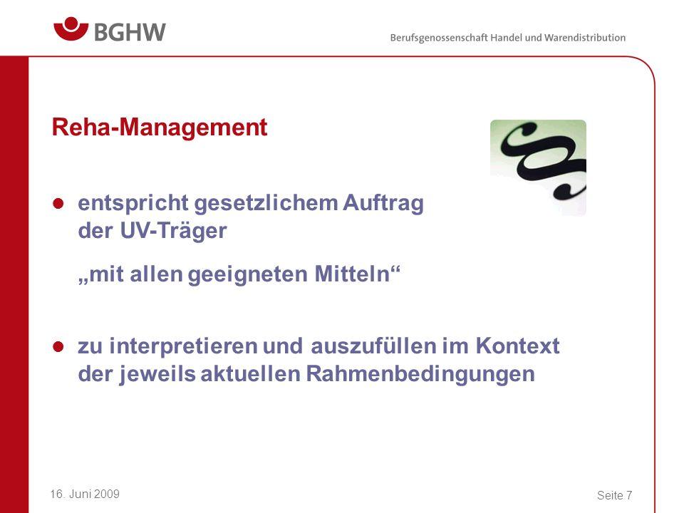 Reha-Management entspricht gesetzlichem Auftrag der UV-Träger