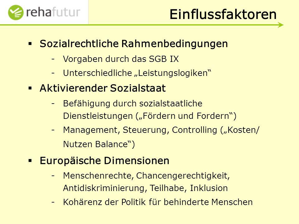 Einflussfaktoren Sozialrechtliche Rahmenbedingungen
