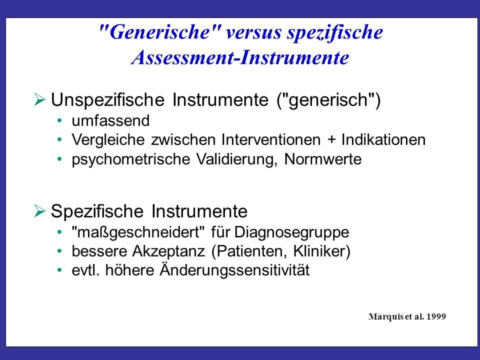 Generische versus spezifische Assessment-Instrumente