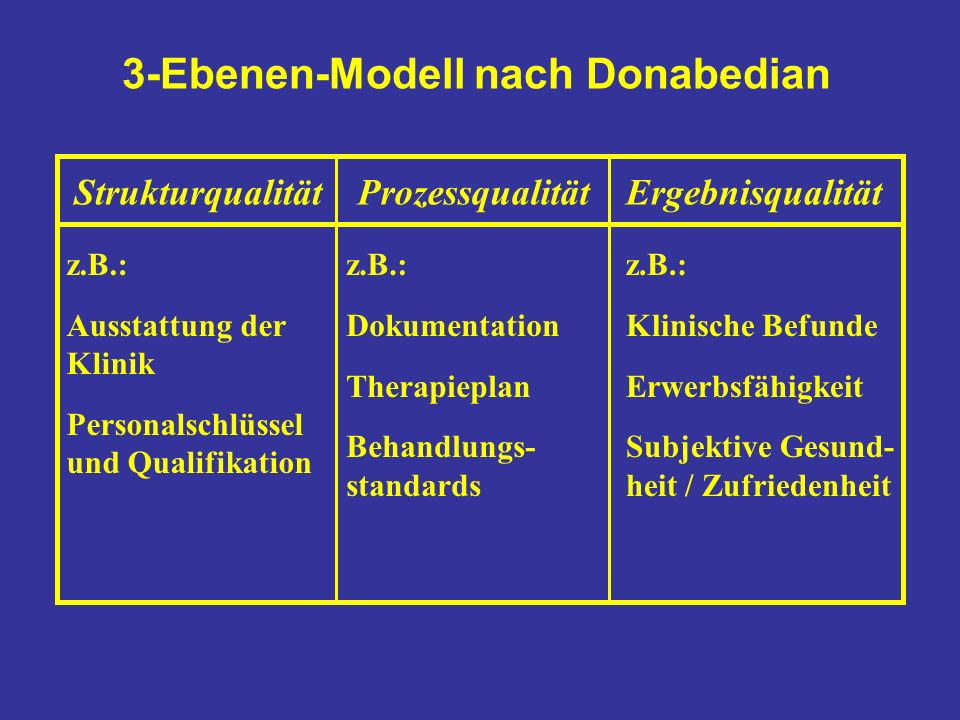3-Ebenen-Modell nach Donabedian