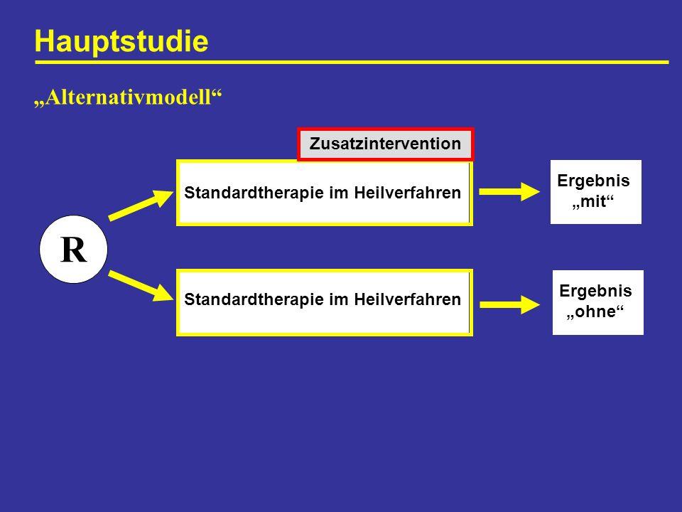 """R Hauptstudie """"Alternativmodell Zusatzintervention Ergebnis"""