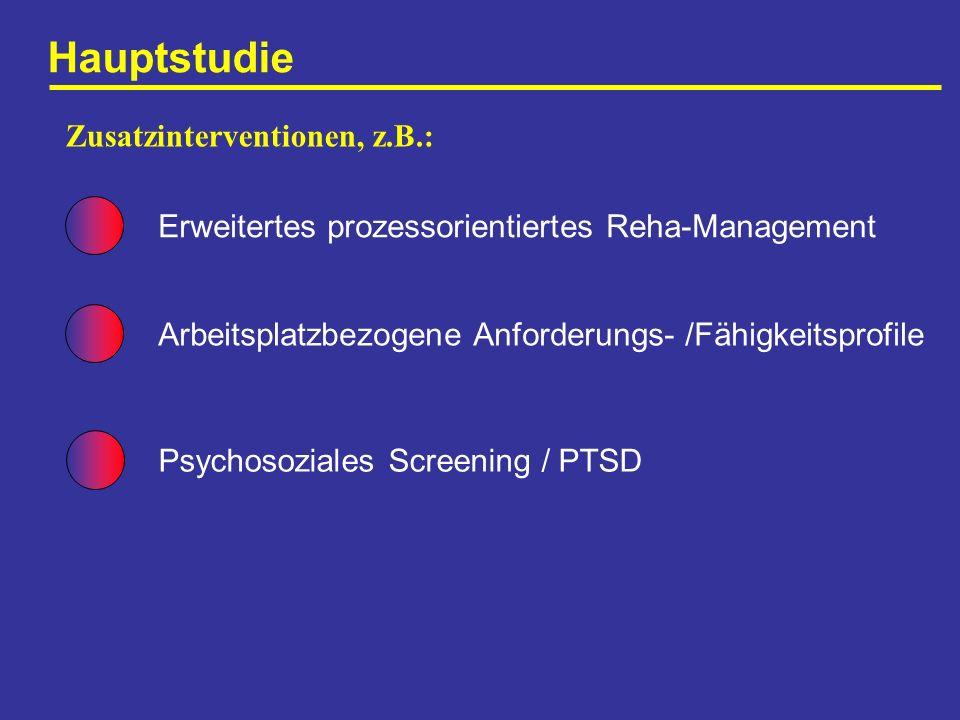 Hauptstudie Zusatzinterventionen, z.B.: