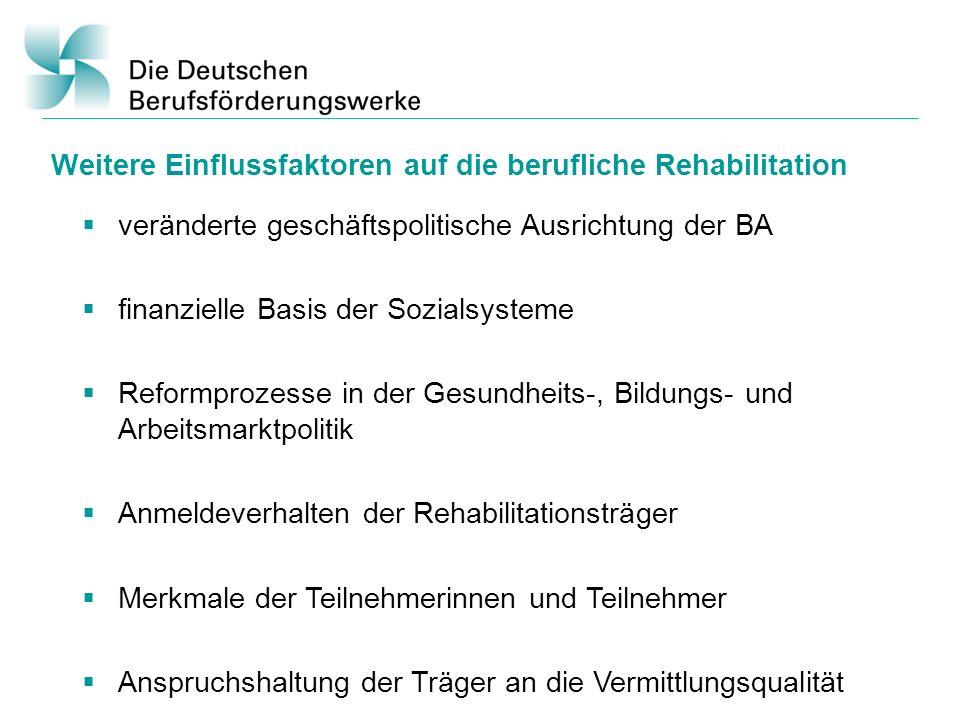 Weitere Einflussfaktoren auf die berufliche Rehabilitation