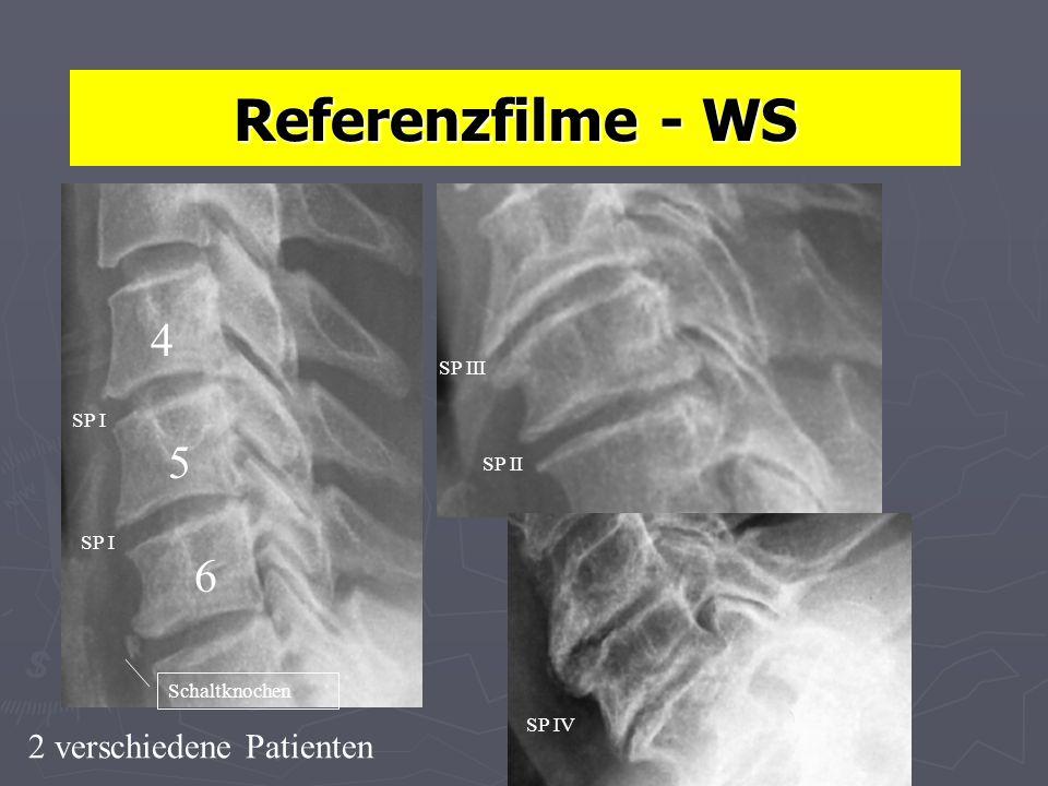 Referenzfilme - WS 4 5 6 2 verschiedene Patienten SP III SP I SP II