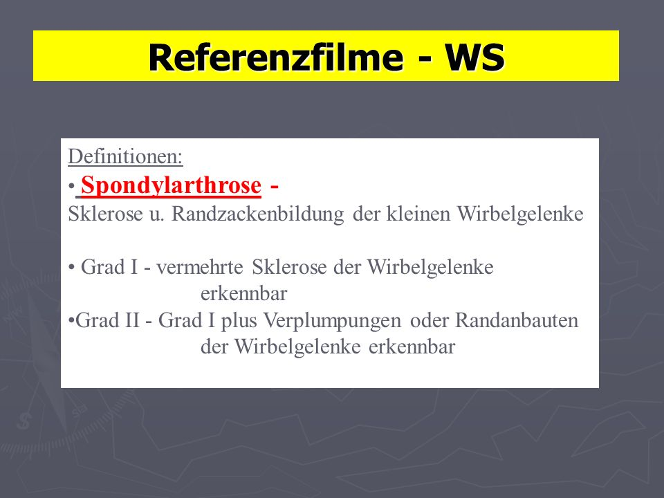 Referenzfilme - WS Definitionen: