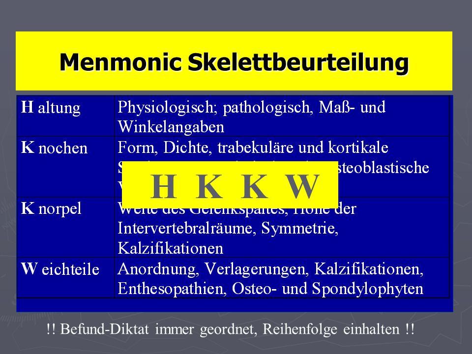 Menmonic Skelettbeurteilung