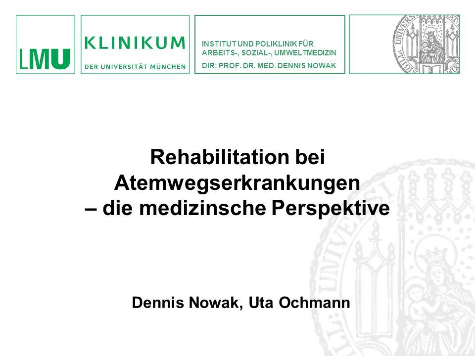 Rehabilitation bei Atemwegserkrankungen – die medizinsche Perspektive