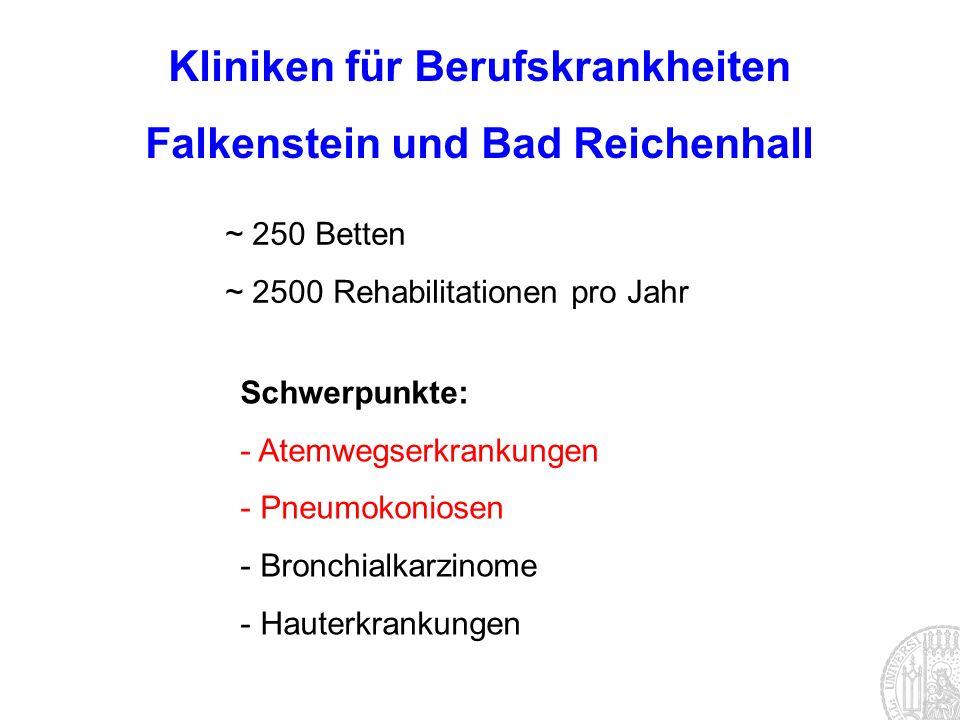 Kliniken für Berufskrankheiten Falkenstein und Bad Reichenhall