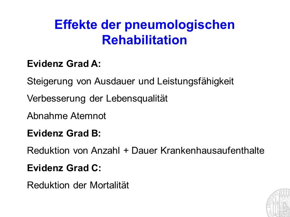 Effekte der pneumologischen Rehabilitation