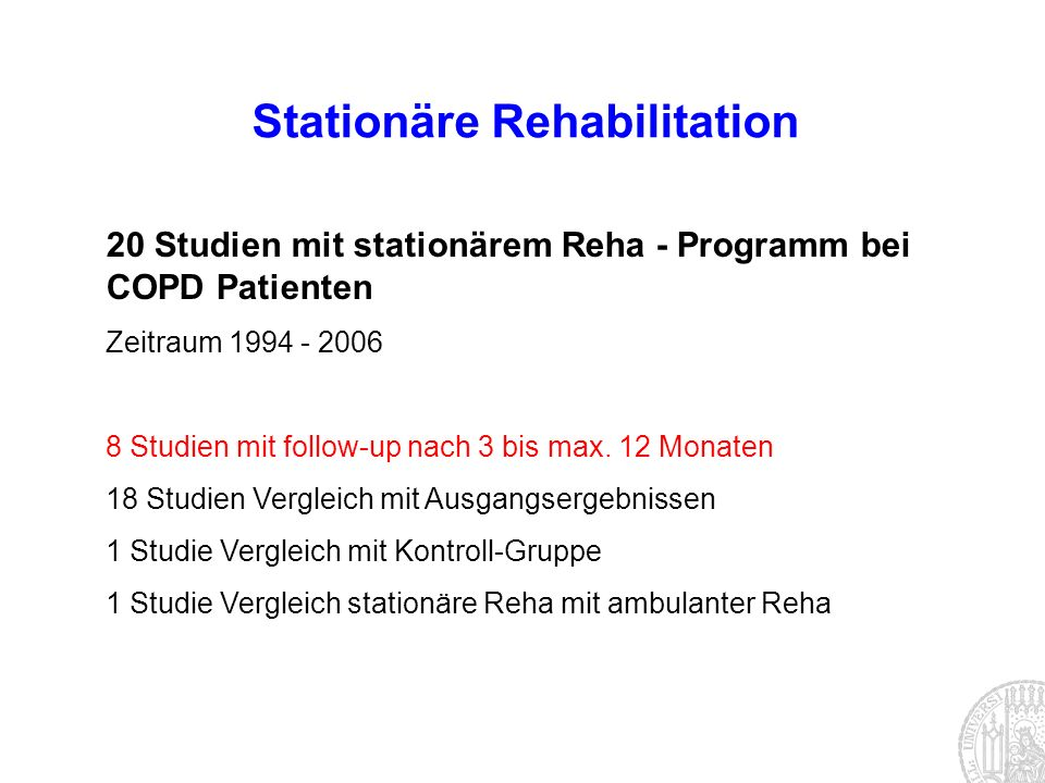 Stationäre Rehabilitation