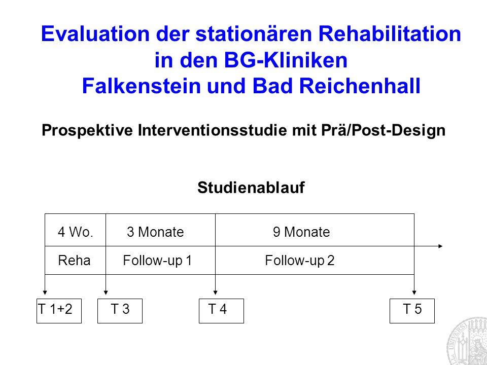 Evaluation der stationären Rehabilitation in den BG-Kliniken Falkenstein und Bad Reichenhall