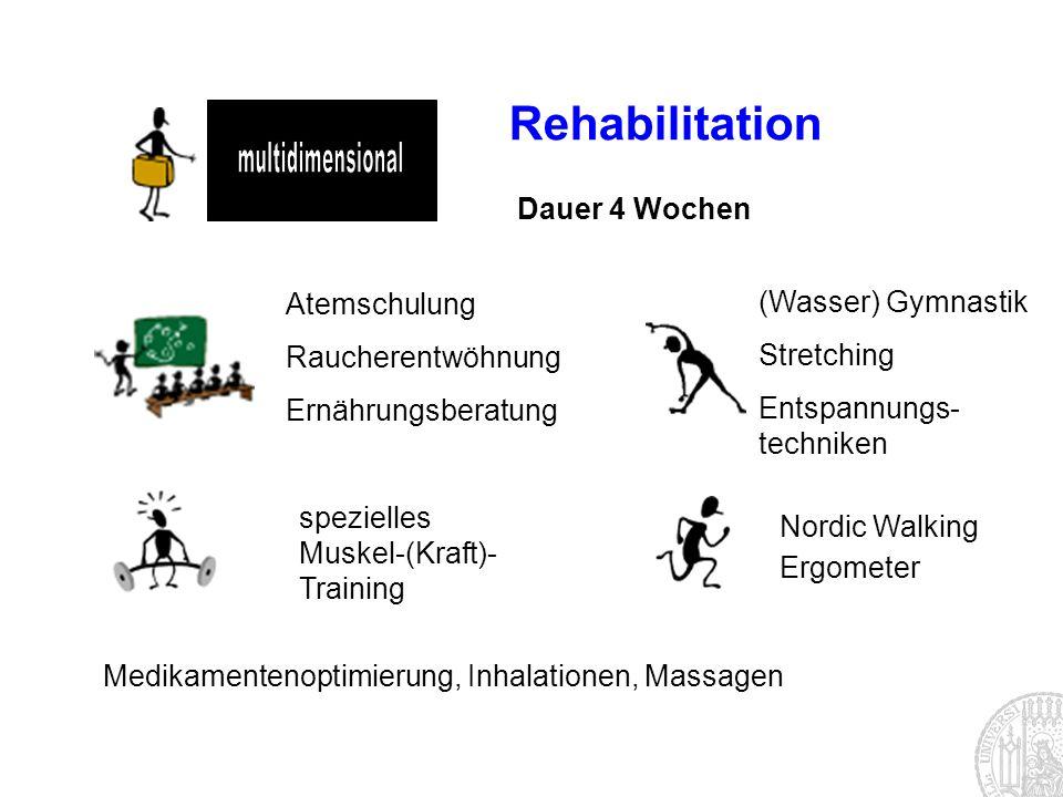 multidimensional Rehabilitation Dauer 4 Wochen Atemschulung