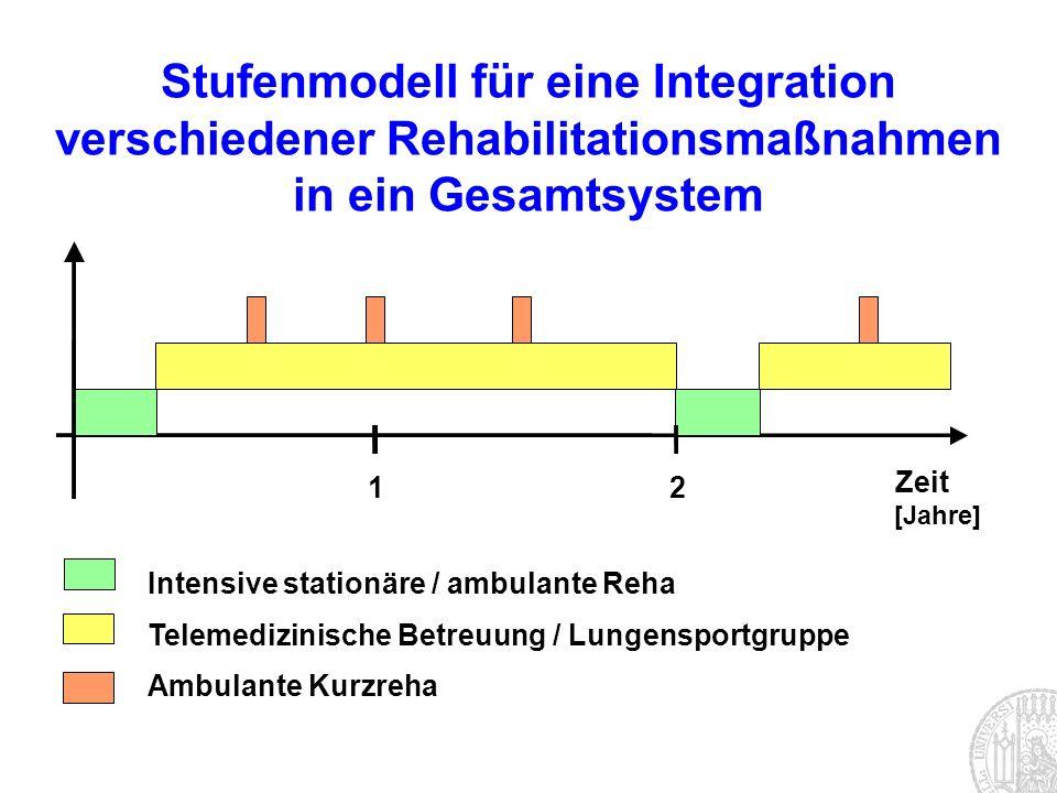 Stufenmodell für eine Integration verschiedener Rehabilitationsmaßnahmen in ein Gesamtsystem