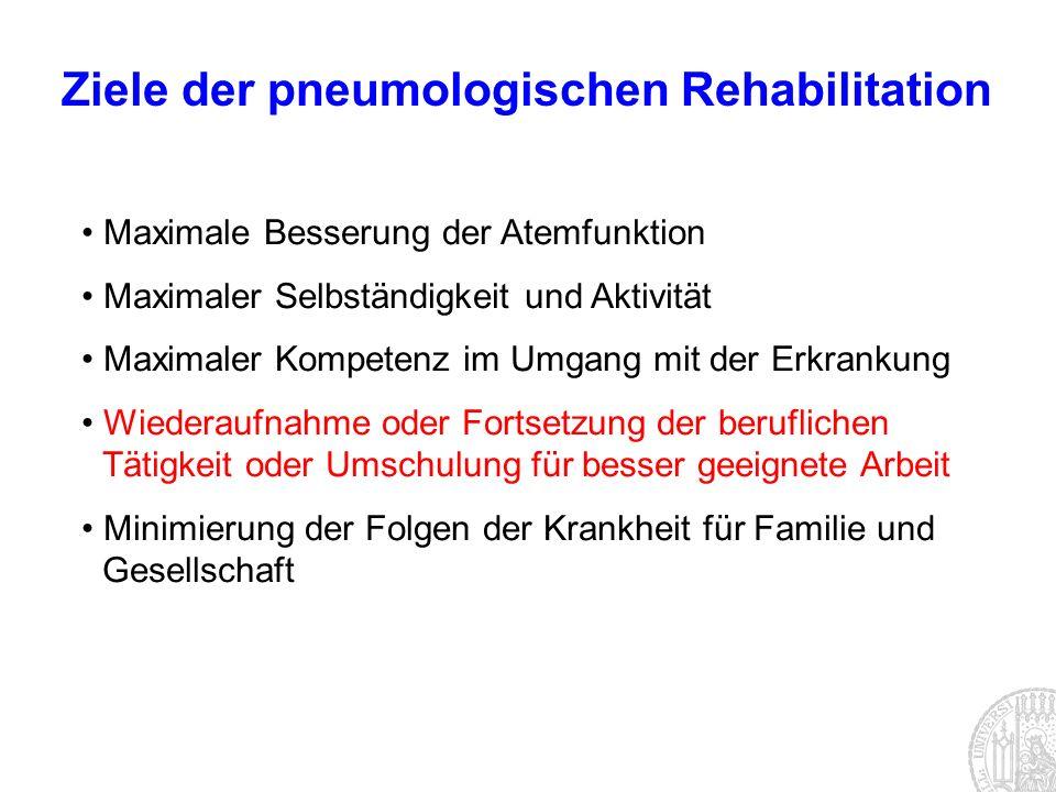 Ziele der pneumologischen Rehabilitation