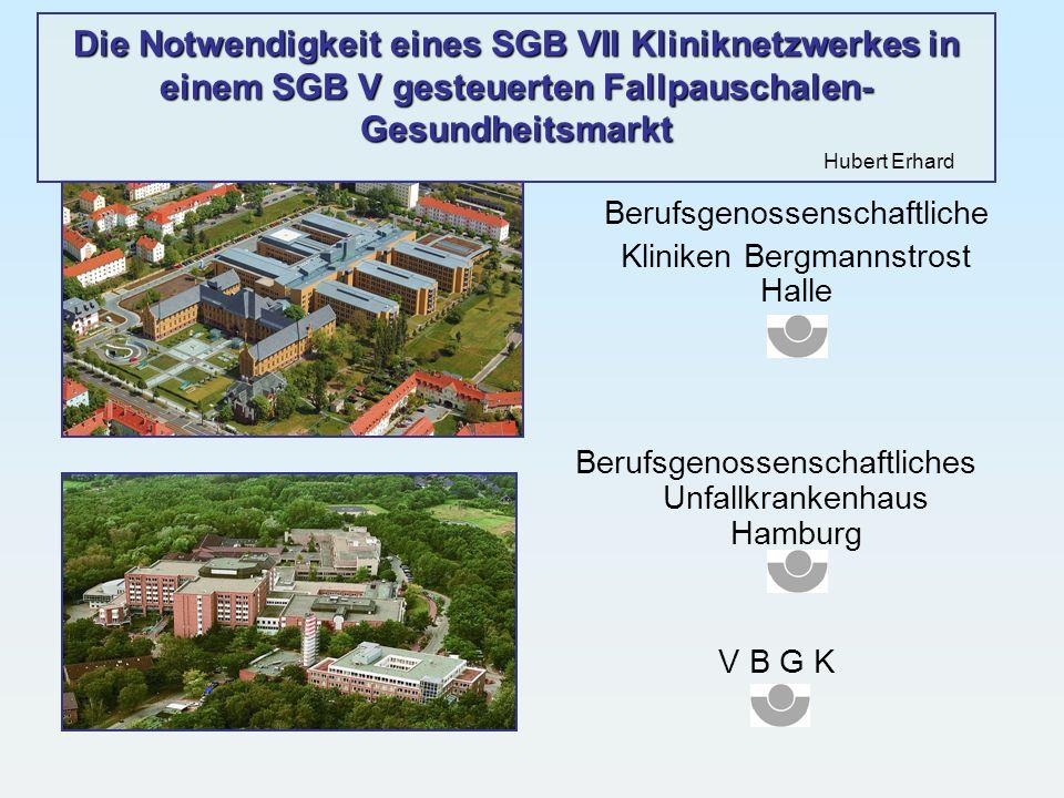 Die Notwendigkeit eines SGB VII Kliniknetzwerkes in einem SGB V gesteuerten Fallpauschalen-Gesundheitsmarkt Hubert Erhard