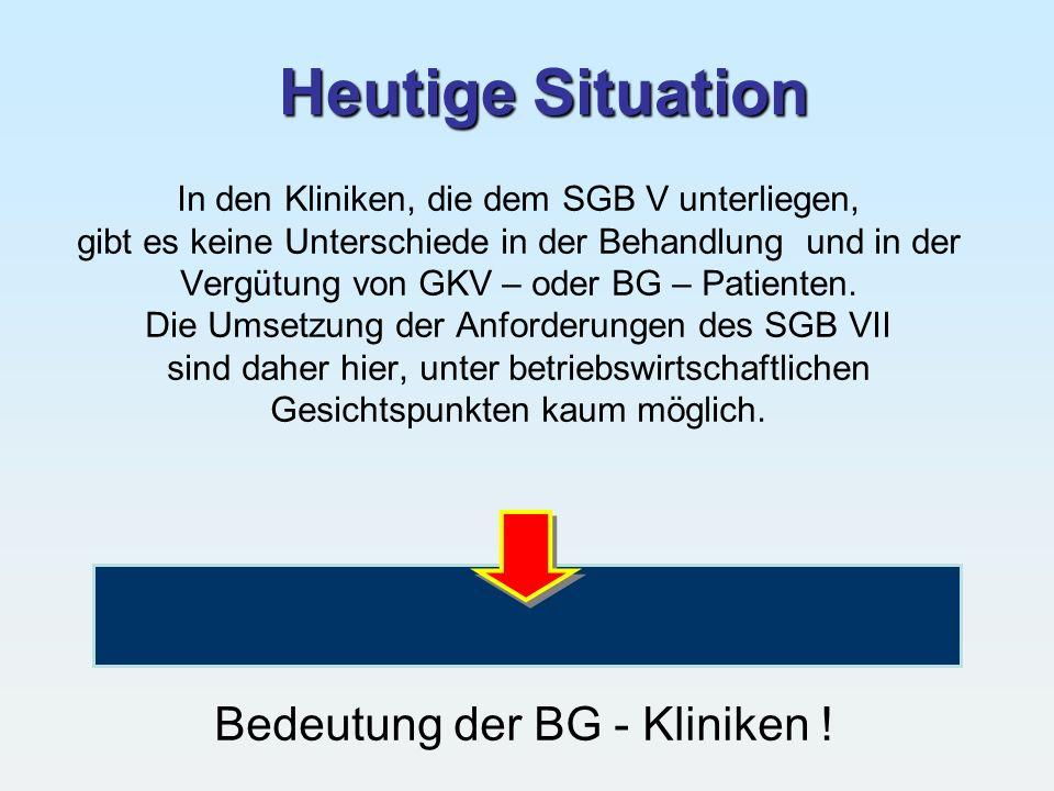Bedeutung der BG - Kliniken !