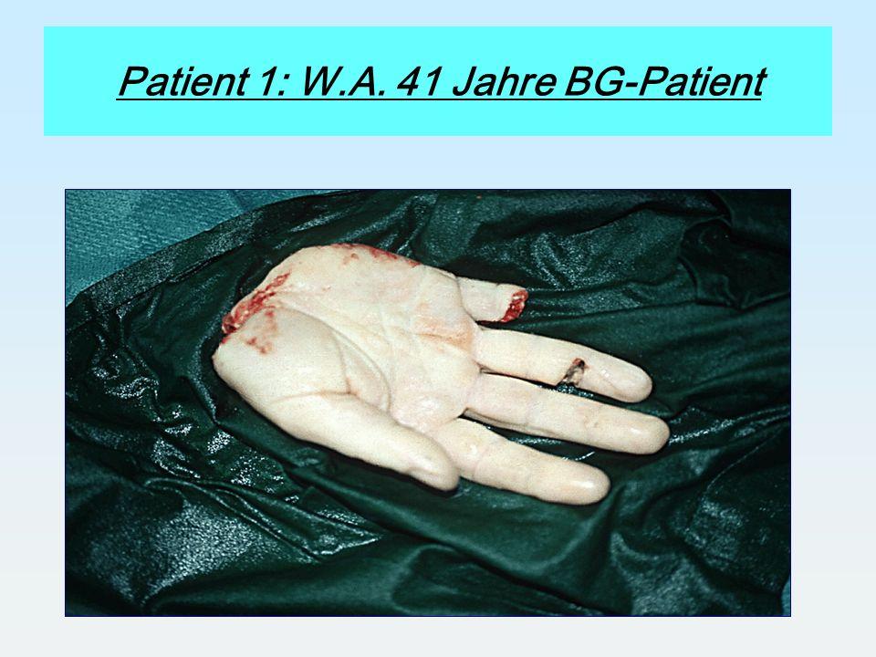 Patient 1: W.A. 41 Jahre BG-Patient