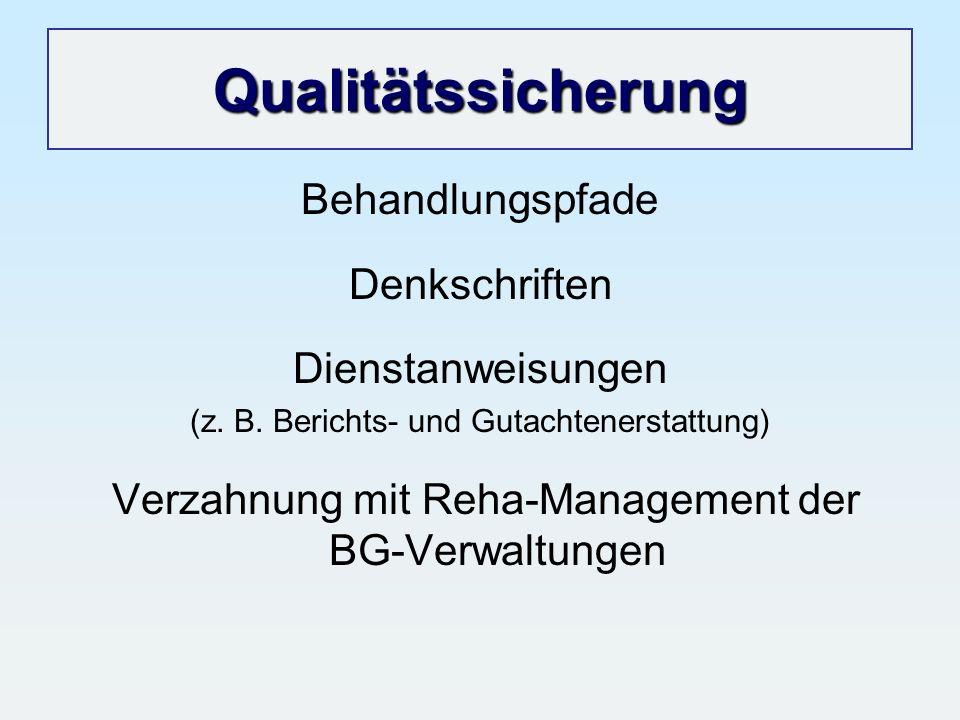 Qualitätssicherung Behandlungspfade Denkschriften Dienstanweisungen