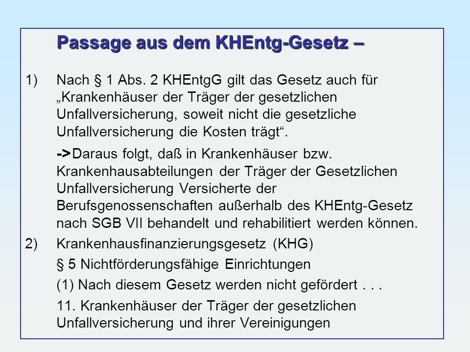 Passage aus dem KHEntg-Gesetz –