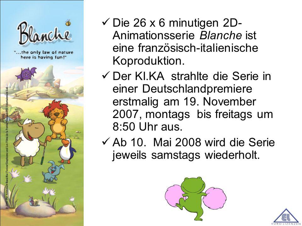 Die 26 x 6 minutigen 2D-Animationsserie Blanche ist eine französisch-italienische Koproduktion.