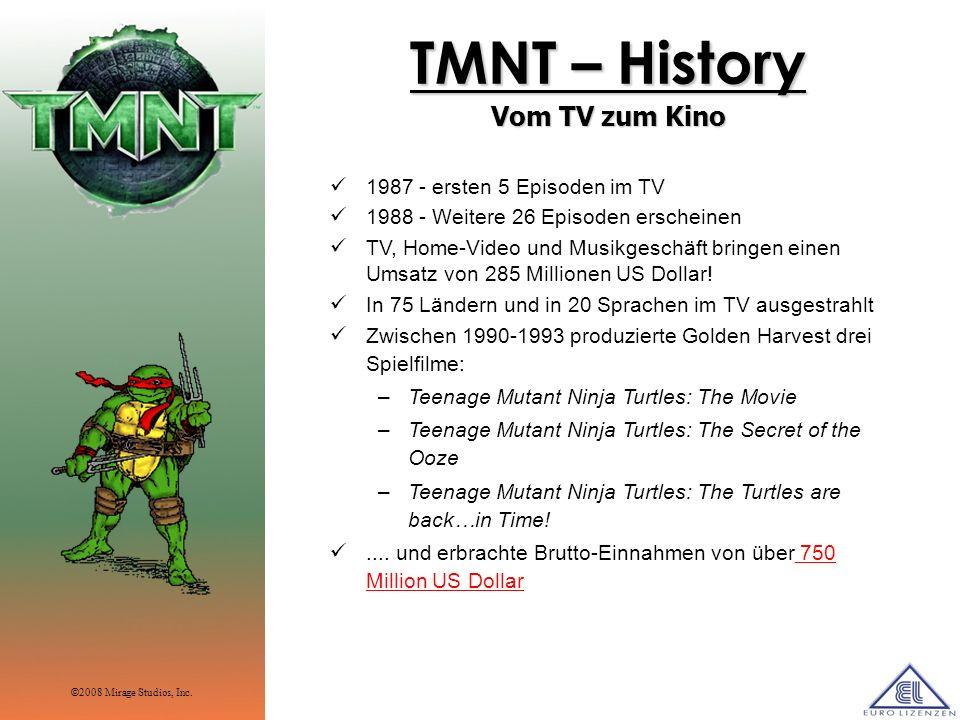 TMNT – History Vom TV zum Kino 1987 - ersten 5 Episoden im TV