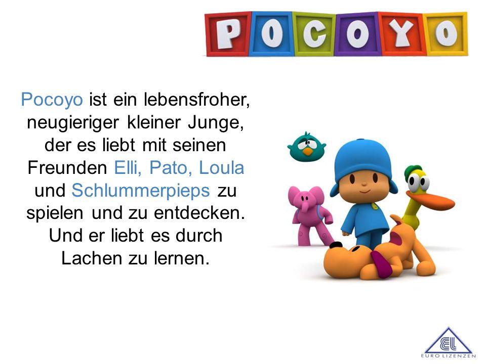 Pocoyo ist ein lebensfroher, neugieriger kleiner Junge, der es liebt mit seinen Freunden Elli, Pato, Loula und Schlummerpieps zu spielen und zu entdecken. Und er liebt es durch Lachen zu lernen.