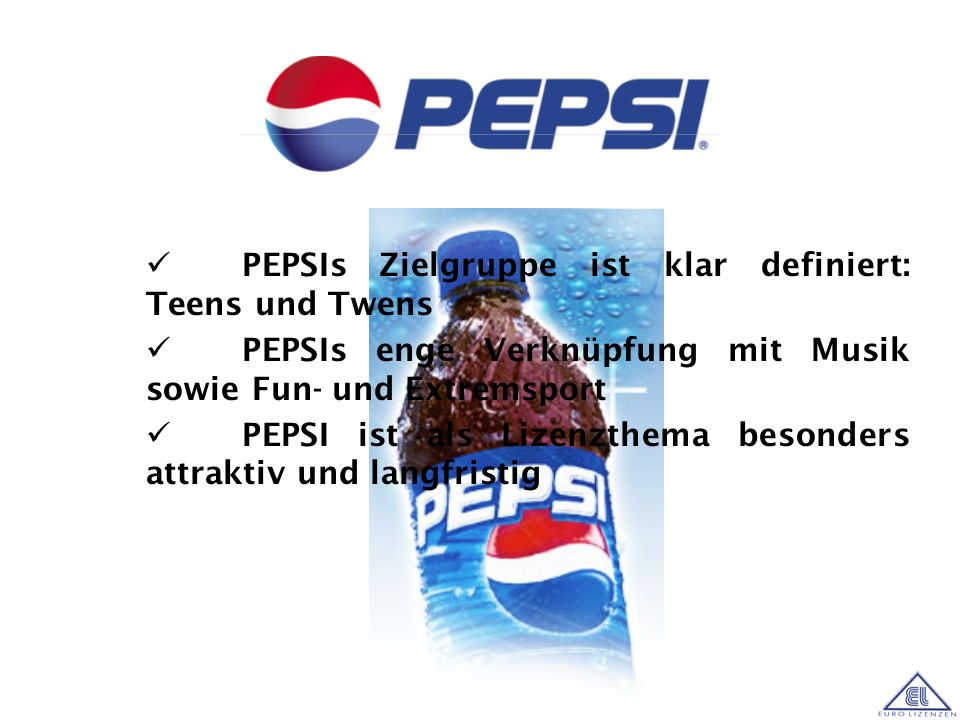 PEPSIs Zielgruppe ist klar definiert: Teens und Twens