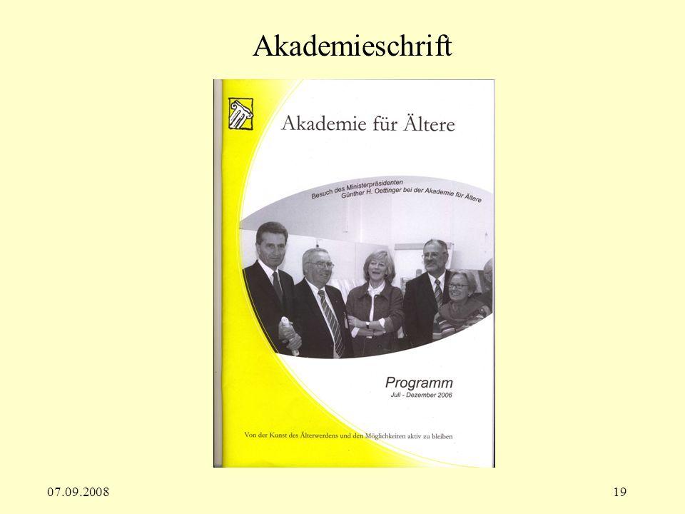 Akademieschrift 07.09.2008