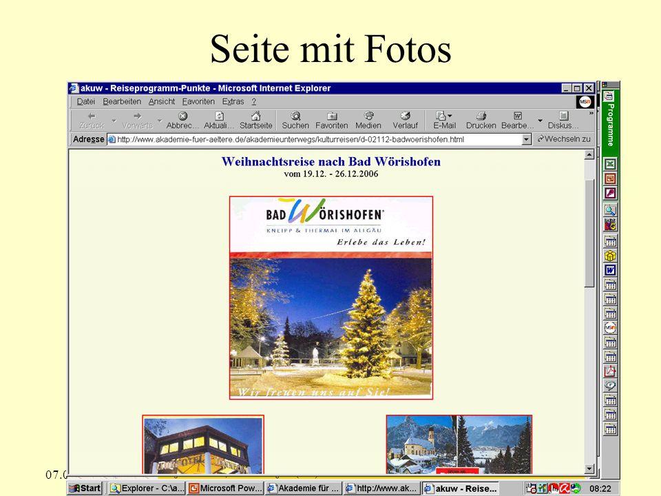 Seite mit Fotos 07.09.2008