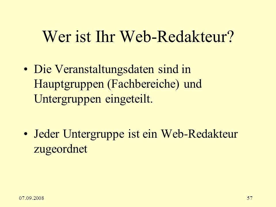 Wer ist Ihr Web-Redakteur