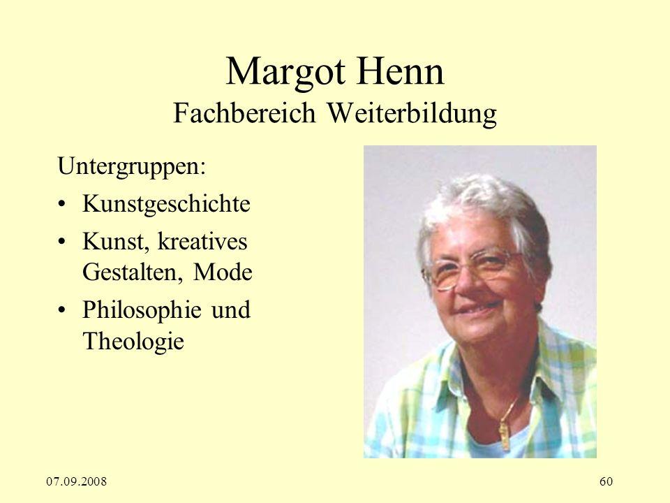 Margot Henn Fachbereich Weiterbildung
