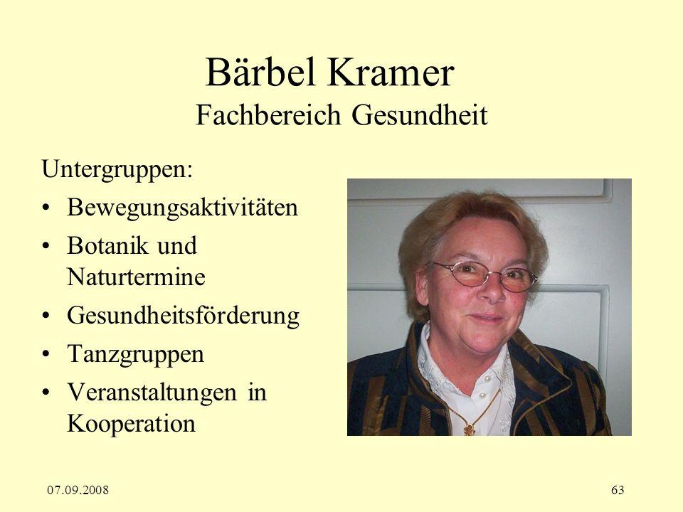 Bärbel Kramer Fachbereich Gesundheit