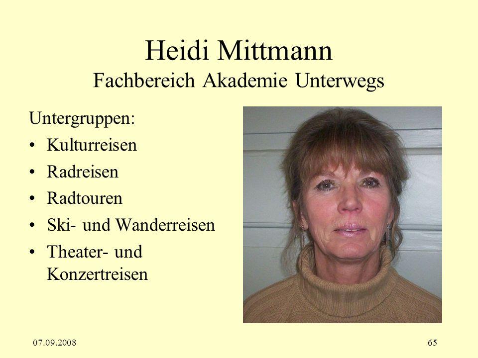 Heidi Mittmann Fachbereich Akademie Unterwegs
