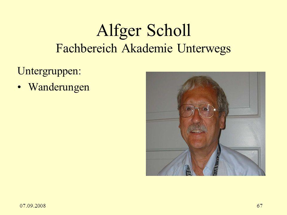 Alfger Scholl Fachbereich Akademie Unterwegs