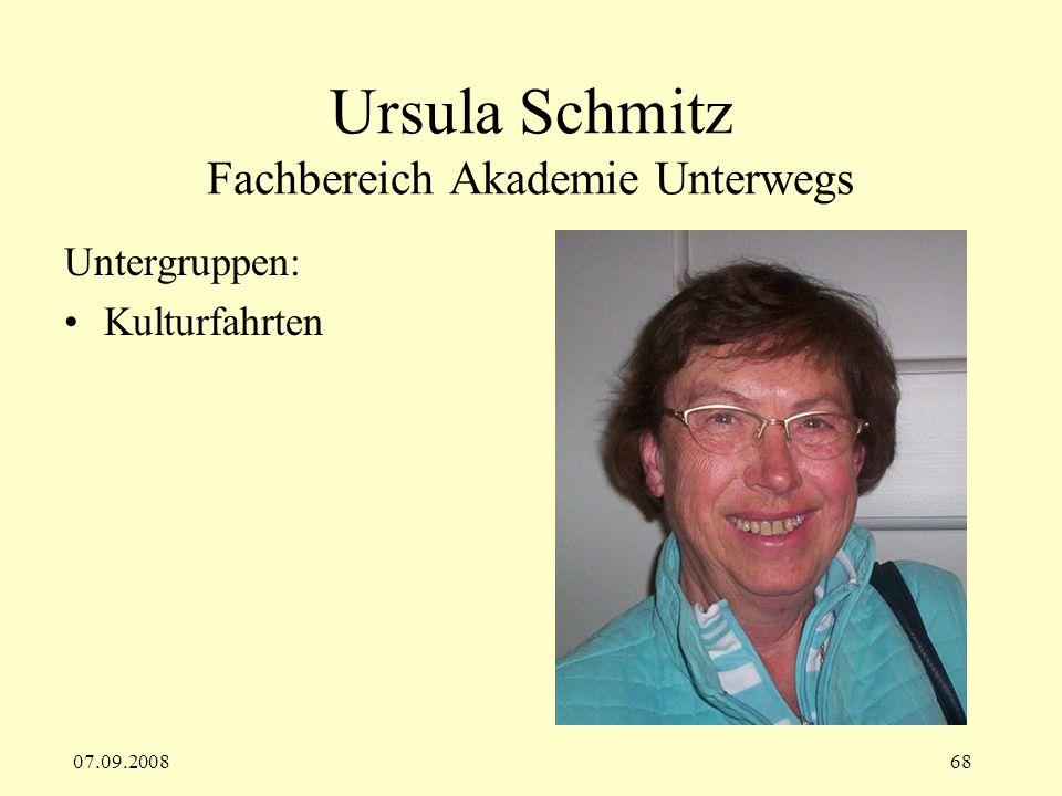 Ursula Schmitz Fachbereich Akademie Unterwegs