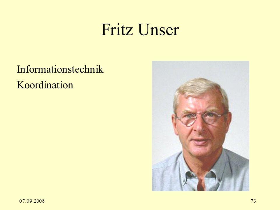 Fritz Unser Informationstechnik Koordination 07.09.2008