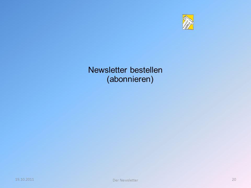Newsletter bestellen (abonnieren)