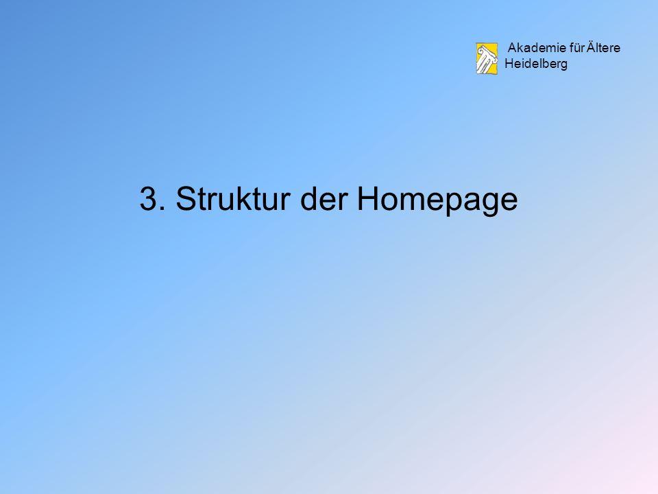 3. Struktur der Homepage