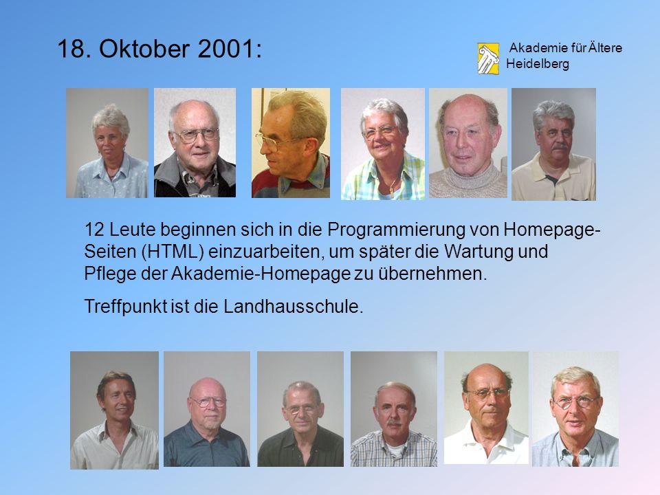 18. Oktober 2001: