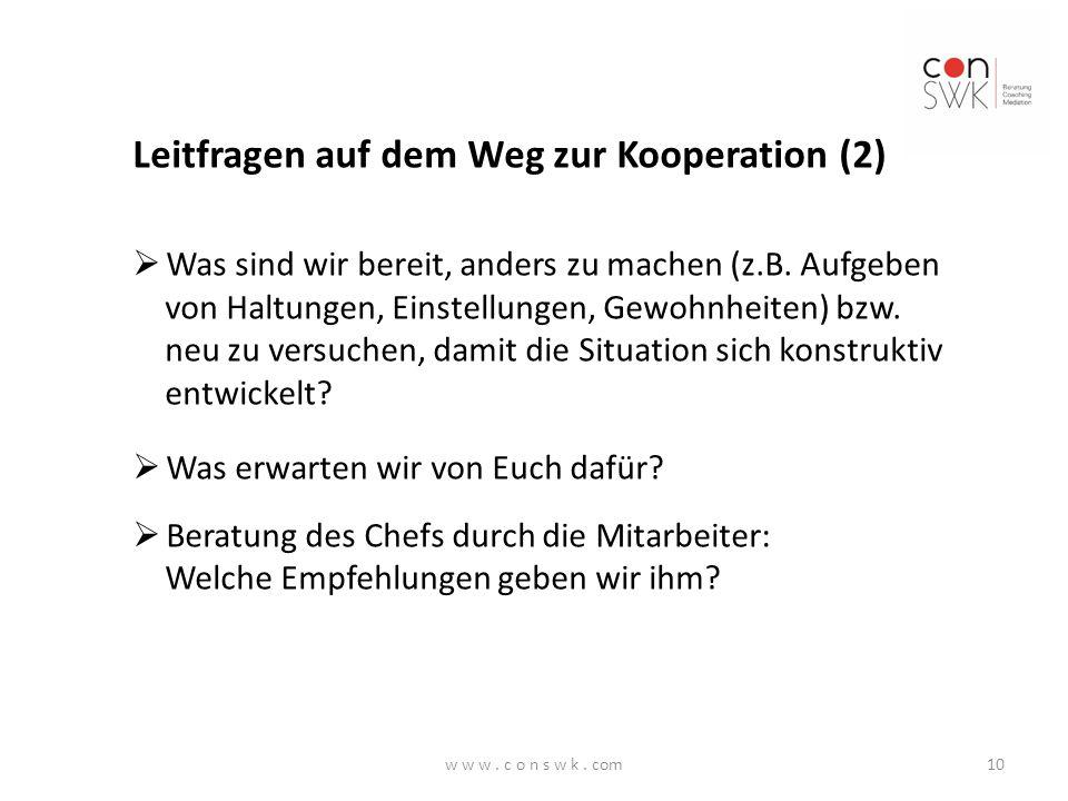 Leitfragen auf dem Weg zur Kooperation (2)