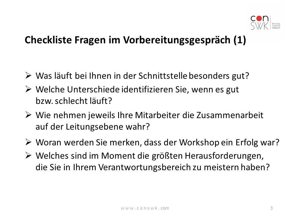 Checkliste Fragen im Vorbereitungsgespräch (1)